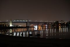 Burrard Brücke lizenzfreies stockfoto