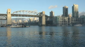 Burrard-Brücken-Morgen Sun, Vancouver stock video footage