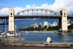 Burrard bridge Stock Image