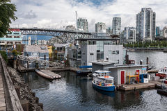 Burrard Bridge Granville Island Vancouver Canada Stock Photo
