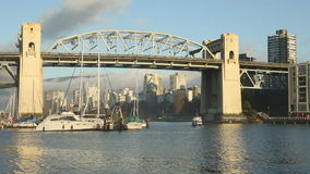 Burrard Bridge Morning Ferry, Vancouver stock video