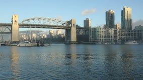 Burrard Bridge Morning Sun, Vancouver stock video footage