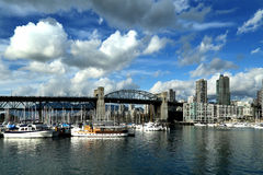 Burrard bridge in Vancouver Stock Image