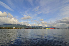 Burrard Inlet in autumn Royalty Free Stock Image