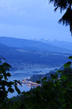 Burrard Inlet at blue hour Stock Images