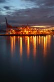 Burrard Inlet Cargo Terminal, Dawn Stock Photography