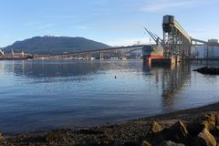 Burrard Inlet Grain Elevator, Vancouver Stock Image