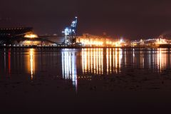 Burrard Inlet Industry, Vancouver Stock Photo