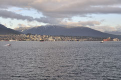 Burrard Inlet and North Shore Royalty Free Stock Image