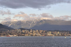 Burrard Inlet and North Shore Stock Image