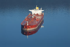 Burrard Inlet Oil Tanker, Vancouver Stock Image
