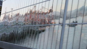 Burrard Inlet Reflection, Vancouver stock video footage