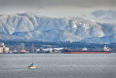 Burrard Inlet, Vancouver Stock Image