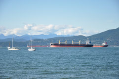 Burrard Inlet. View on Vancouver's bay from Jericho beach Stock Photography