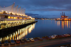 Burrard Inlet Waterfront Morning, Vancouver Stock Photography