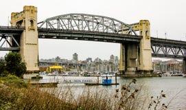 Burrard St. Bridge, Vancouver, B.C. Stock Photo
