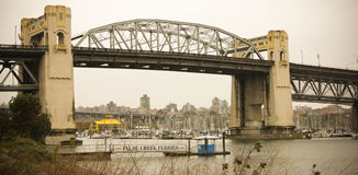 Burrard St. Bridge, Vancouver, B.C. Royalty Free Stock Photo