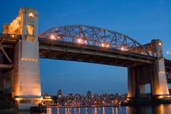 Burrard St. Bridge, Vancouver, Canada. This bridge picture is taken just around sunset Stock Photo