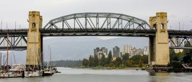 Burrard St-bro, Vancouver, B C Fotografering för Bildbyråer