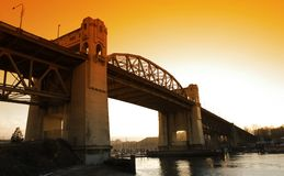Burrard Street Bridge Royalty Free Stock Photo