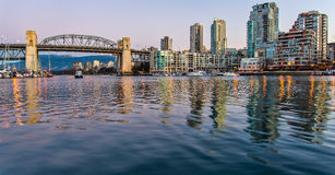 Burrard Street Bridge From Granville Island Royalty Free Stock Image