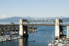 Burrard Street Bridge, Vancouver Stock Photography