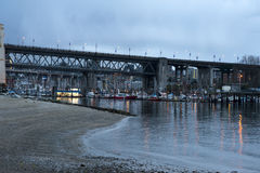 Burrard Street Bridge, Vancouver Royalty Free Stock Photo