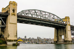 Burrard Street, Bridge, Vancouver, BC. Royalty Free Stock Photography