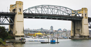 Burrard Street, Bridge, Vancouver, BC. Royalty Free Stock Photos