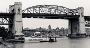 Burrard Street, Bridge, Vancouver, BC. Stock Images