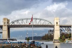 Burrard Street Bridge Vancouver Canada Stock Photo