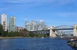 Burrard Street Bridge in Vancouver Stock Photos