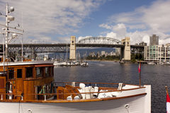 Burrard street bridge in Vancouver Harbour Royalty Free Stock Photography