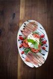 Burrata Caprese Royalty-vrije Stock Afbeelding