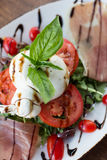 Burrata Caprese Royalty-vrije Stock Foto's