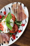 Burrata Caprese Royalty-vrije Stock Fotografie
