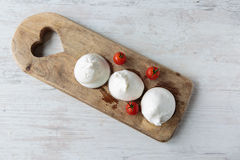 Burrata cheese. Fresh delicious burrata cheese typical from Apulia region, Italy royalty free stock photos
