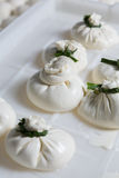Burrata cheese on a production Royalty Free Stock Images