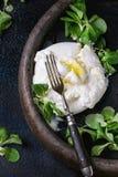 Burrata italiano del formaggio Immagine Stock