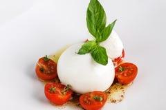 Burrata sałatka z pomidorem zdjęcie royalty free