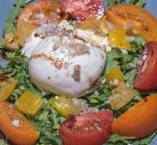 Burrata salad with tomatoes Royalty Free Stock Images