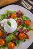 Burrata-Salat Stockfoto