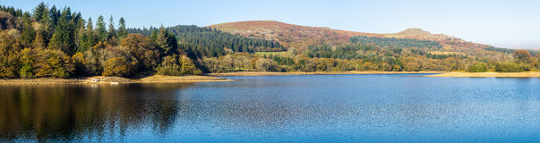 Burrator Reservoir Dartmoor Devon. Burrator Reservoir on Dartmoor National Park one of the reservoirs supplying drinking water to the city of Plymouth Devon Royalty Free Stock Image
