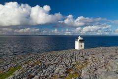 burren пейзаж маяка Стоковая Фотография