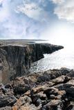 Burren Cliff Edge View Royalty Free Stock Photos