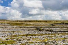 Burren krajobraz, okręg administracyjny Clare, Irlandia Zdjęcie Royalty Free