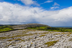 Burren landscape, County Clare, Ireland. Burren region, Clare, Ireland - August 23, 2010: The Burren measures 250 square kilometres and is enclosed roughly Royalty Free Stock Image