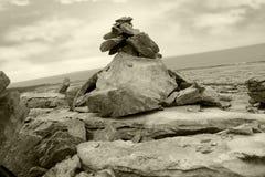 Burren landscape rock formation Stock Image