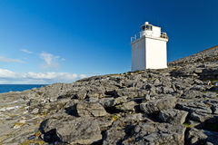 Burren Lighthouse. Royalty Free Stock Image