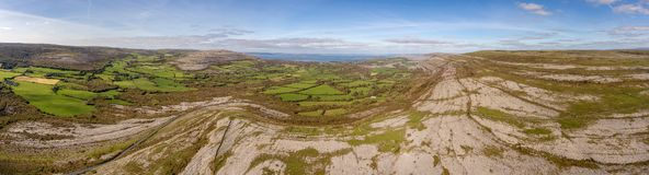 The burren national park in county clare, ireland. beautiful scenic view stock images
